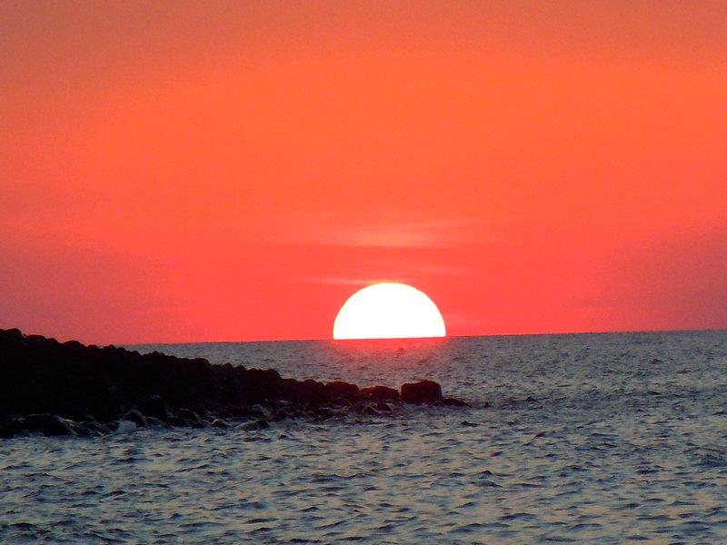 sunset from Long Beach