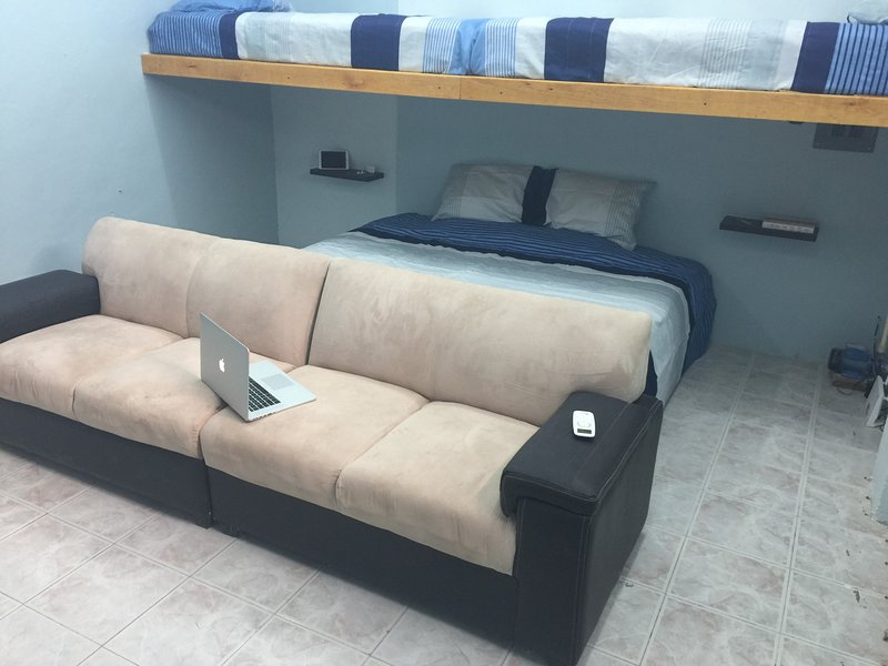 One King Size Bed and 2 individual beds, Netflix included