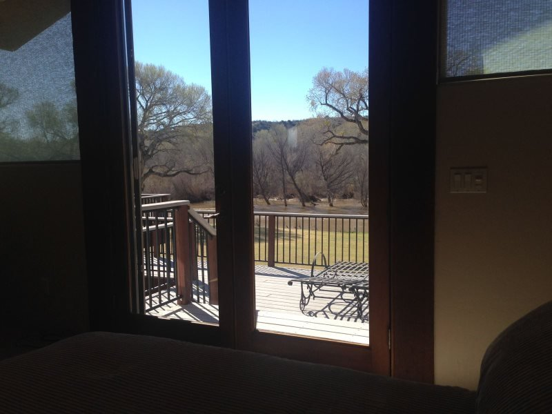 outdoor patio view from bedroom 3