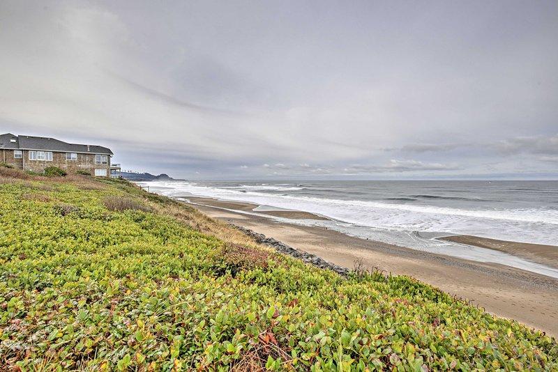 Il suono delle onde che si infrangono vi accoglierà per la casa vacanza!