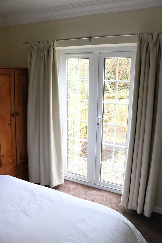 Double room with access to patio garden