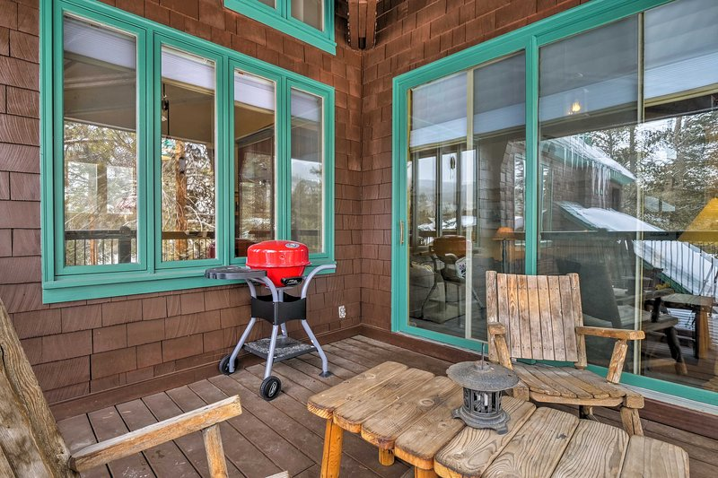 Enjoy après-ski activities and sunsets on your private deck.