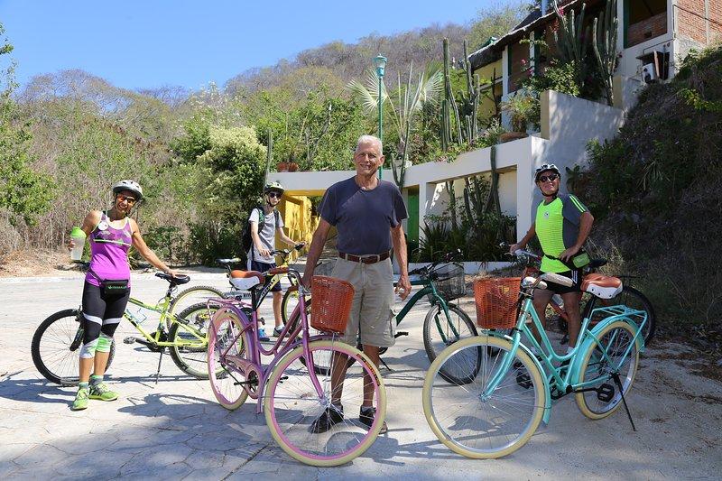 Neue Fahrräder für die Gäste kostenlos zu nutzen.