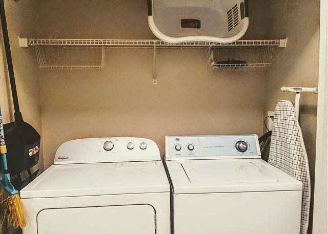 Laundry are inside condo