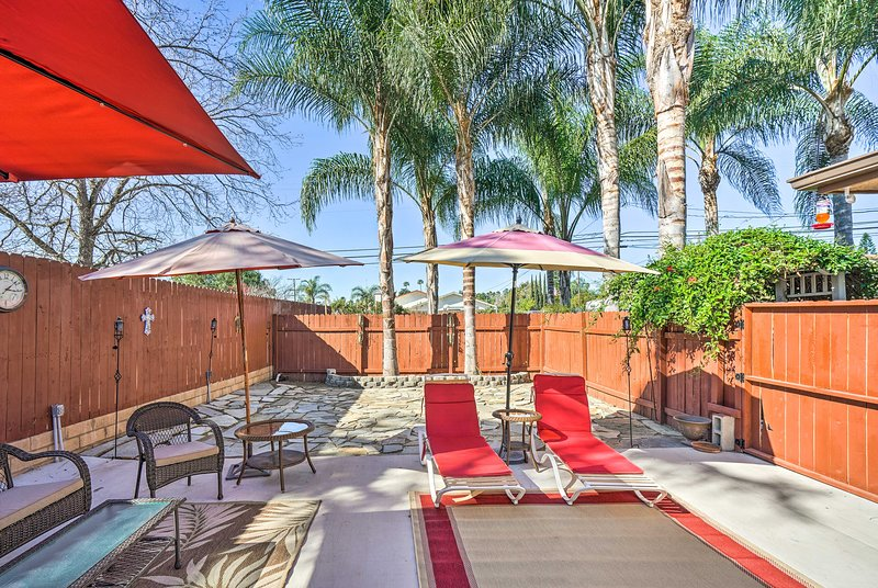 Lounge under the warm California sun for ultimate relaxation!