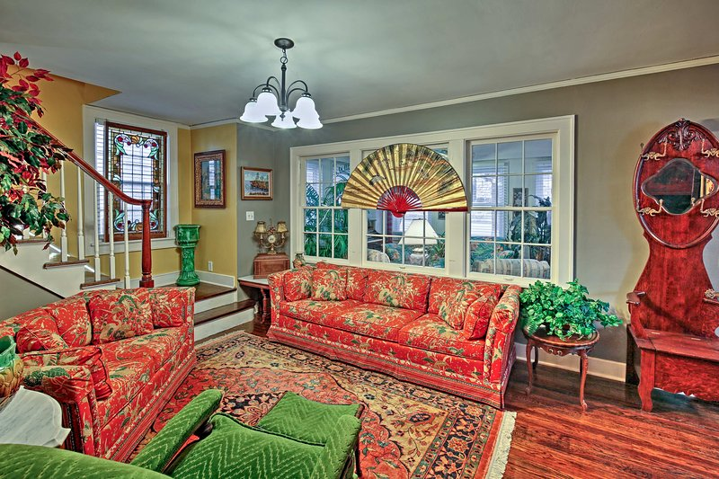 Stay at this historic 3-bedroom, 1.5-bath vacation rental house in Independence!
