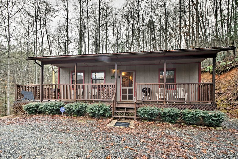 The Smoky Mountains await at this Bryson City 2-bedroom vacation rental cabin!