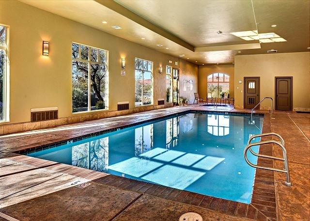Indoor pool, perfect for any time of year