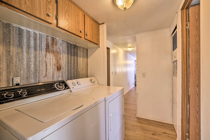 There are in-unit laundry machines on property.