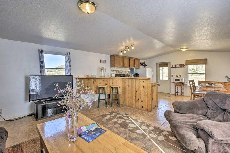 Con posti letto per 4 e spazio per 5, questa casa è perfetta per le famiglie.