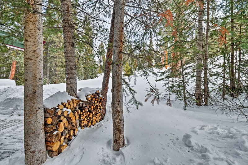 The property is stocked with firewood to keep warm!