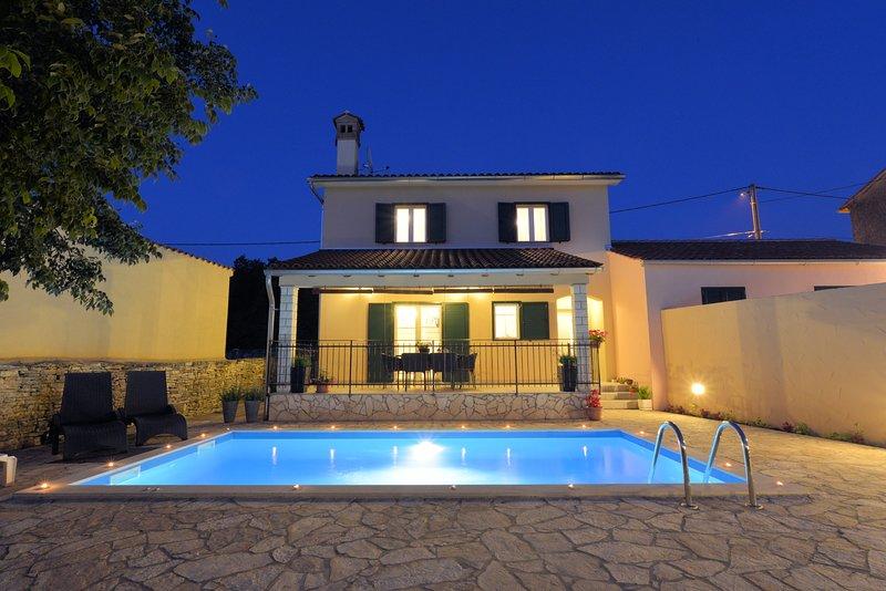 Beautiful villa with swimming-pool, holiday rental in Kanfanar
