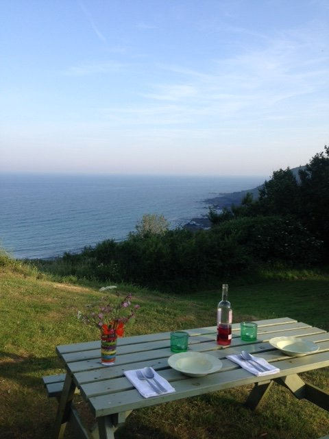 Lovely view from the comunal gardens of the Headlands where the cottage is located