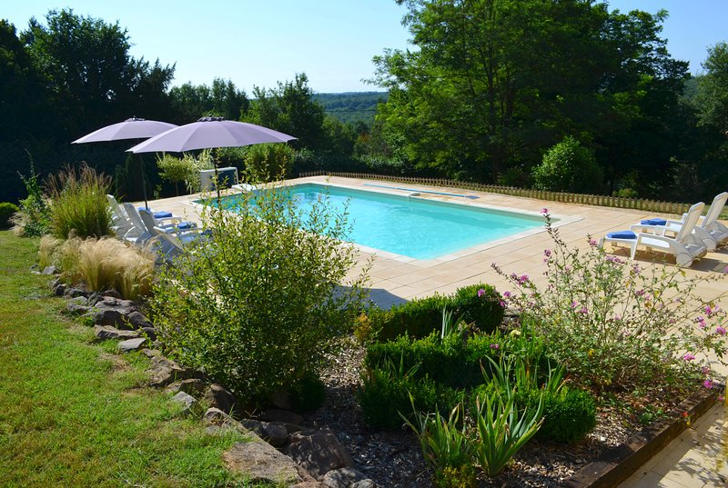 Big villa with swimming-pool & Wifi, location de vacances à Cendrieux