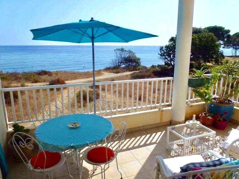 Nice apt with sea view & terrace, holiday rental in San Giuliano