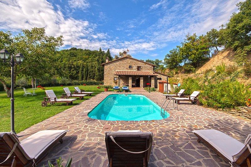 Big villa with swimming-pool & Wifi, holiday rental in Tregozzano