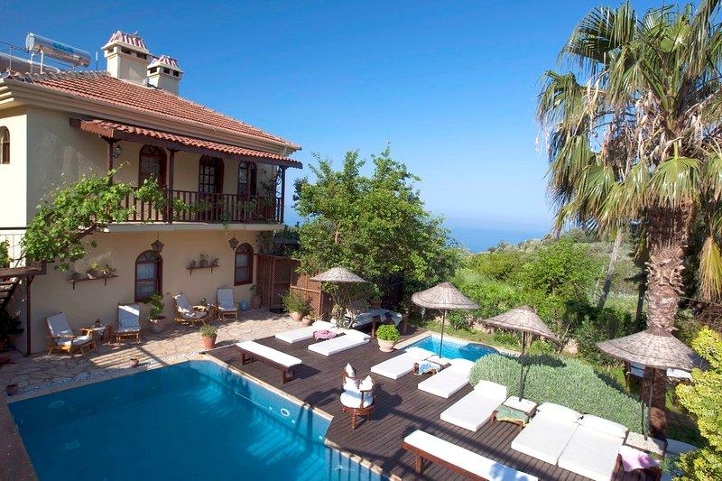 Big villa with swimming-pool & Wifi, holiday rental in Faralya