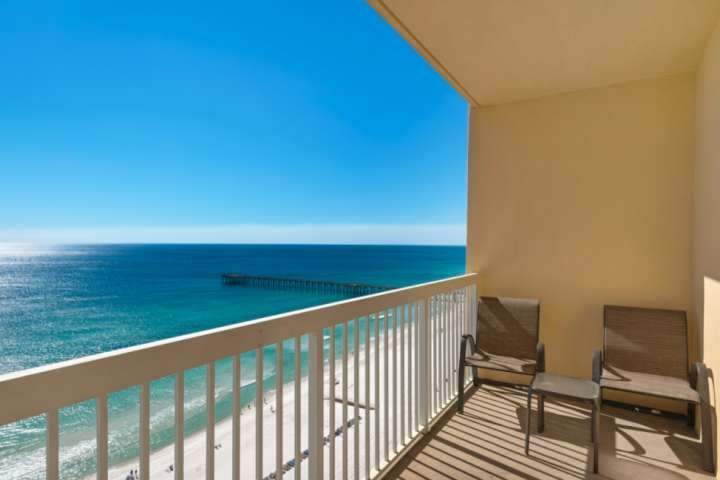 Beautiful Views from this 18 floor property!  Directly across the street to Pier Park.