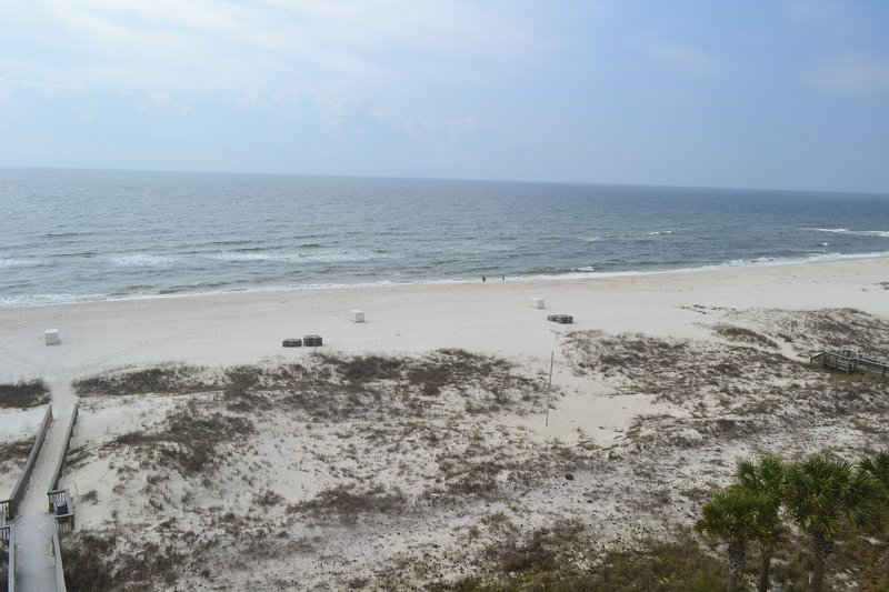 View of beach from Balcony