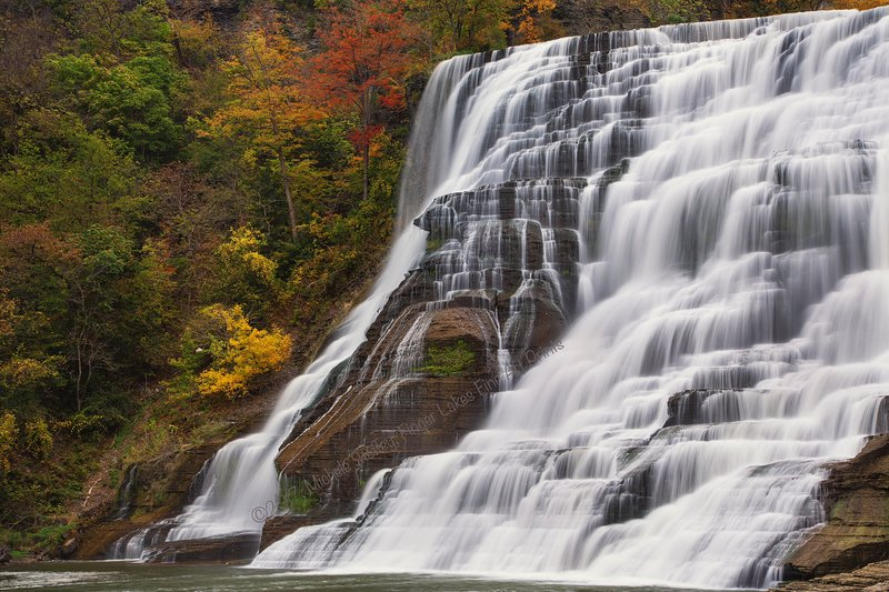 Ithaca Falls is a great stop on nearby Cornell University. Photo ©2017, used with permission.