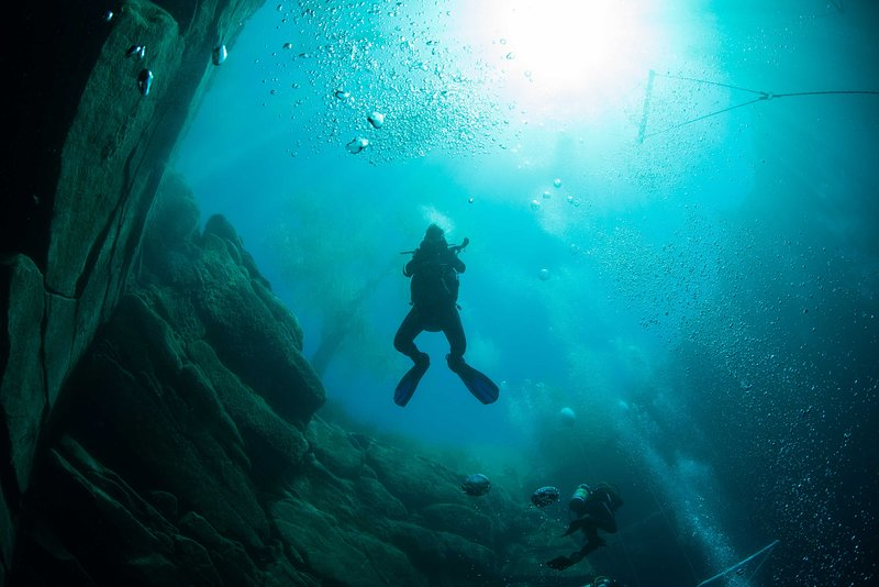 Scuba dive in the middle of the desert!