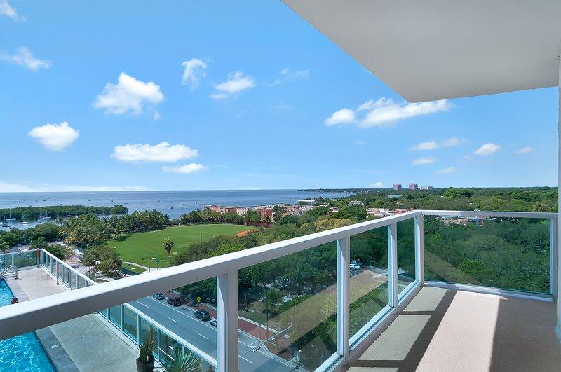 Grand balcon avec la meilleure vue à Miami