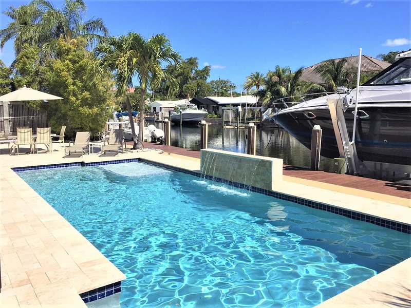 Pool and deck area immerses you in the South Florida lifestyle.