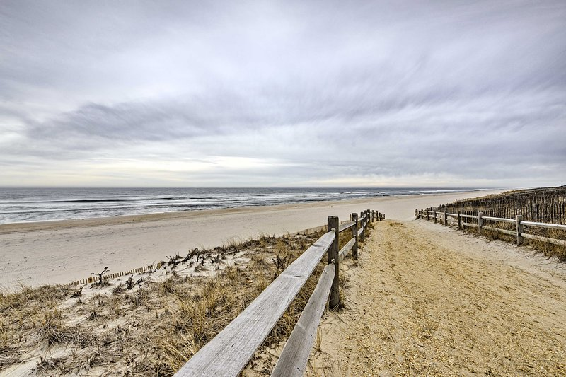 Enjoy nearly instant access to the wide beaches of Long Beach Island!