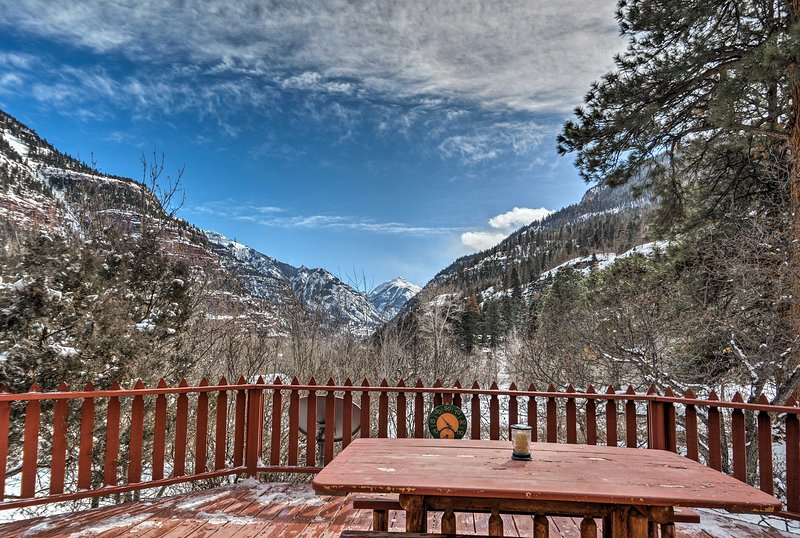 Elevate your Ouray holiday at this 3-bedroom, 2-bathroom vacation rental home with majestic mountain vistas!