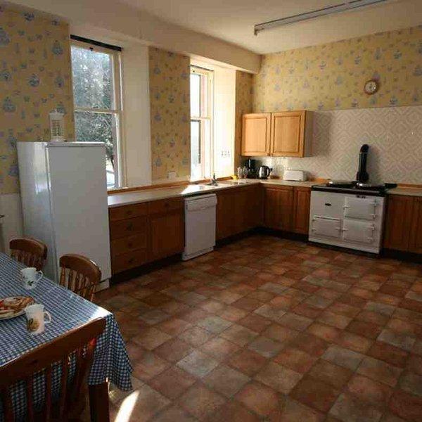 A cozinha é uma cozinha prática lodge