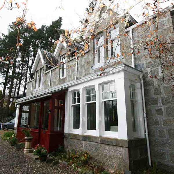 Nestled in the woodlands up the Glen Road in Newtonmore