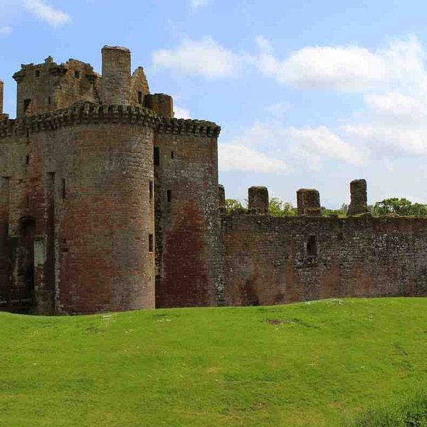 A trip to Caerlaverock Castle is an interesting outing