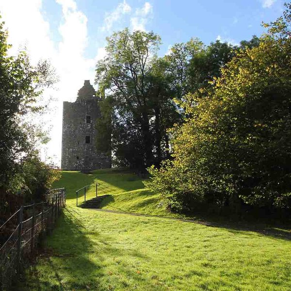 Cardoness Castle is just off the A75