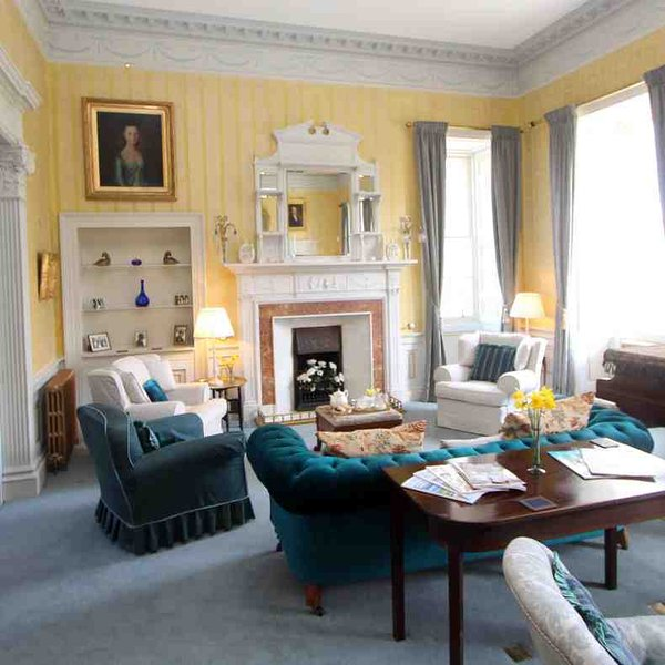 The drawing room offers a formal living space