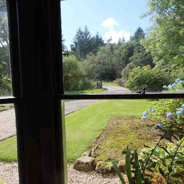 The view from the sitting room window