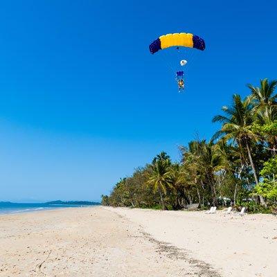 Skydive sur la plage