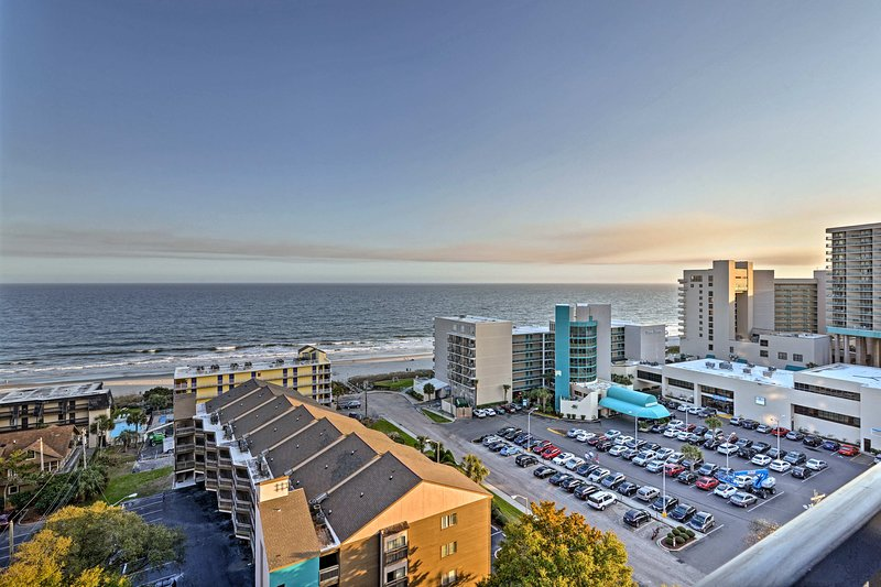 Located on the 11th floor, this unit provides breathtaking ocean views.