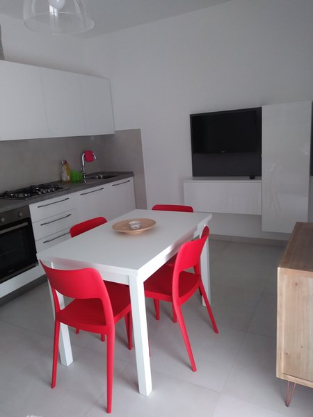 Kitchen / living room with tv