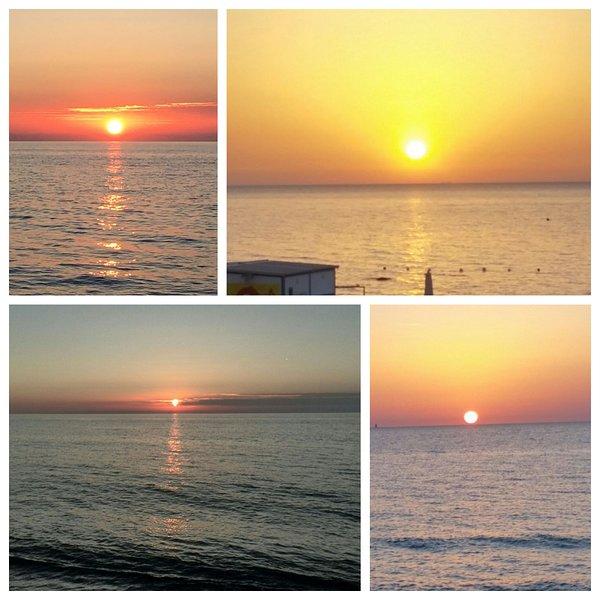 couchers de soleil uniques et jamais la même sur la plage voisine de plage Erice