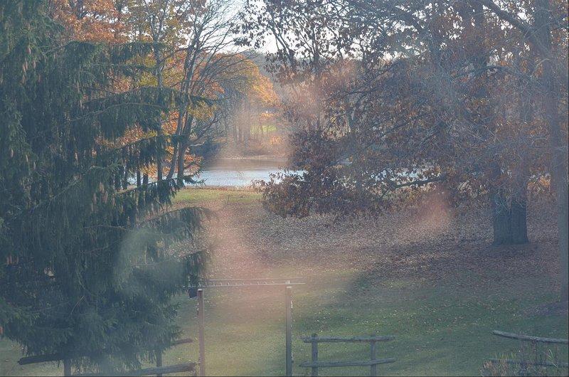 Vista desde River View ventanas de la sala