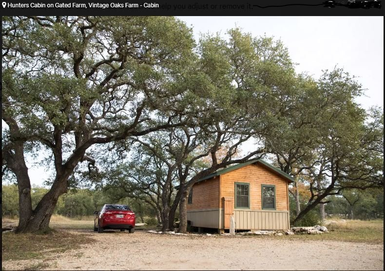 Vintage Oaks Farm - Hunter's Cabin, holiday rental in Kyle