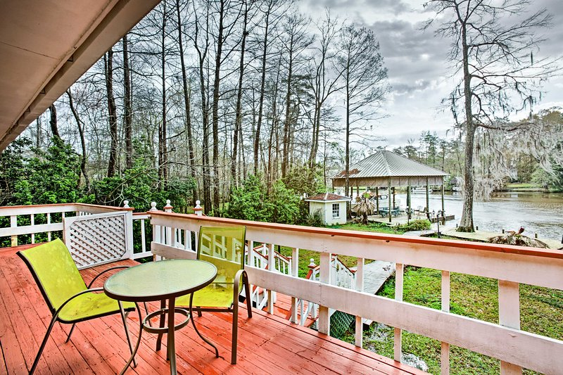Enjoy a laid-back Louisiana retreat at this 2-bed, 2+ bath vacation rental home!