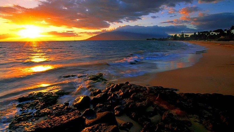 Wailea Beach at sunset... breathtaking!