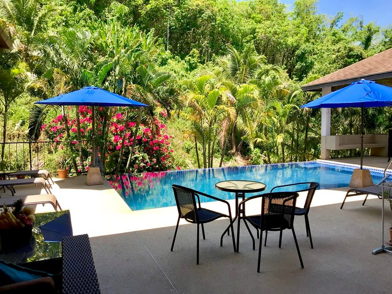 4 bedroom Sapphire Villa, 1km from Nai Harn Beach, tranquil valley views and private Swimming pool