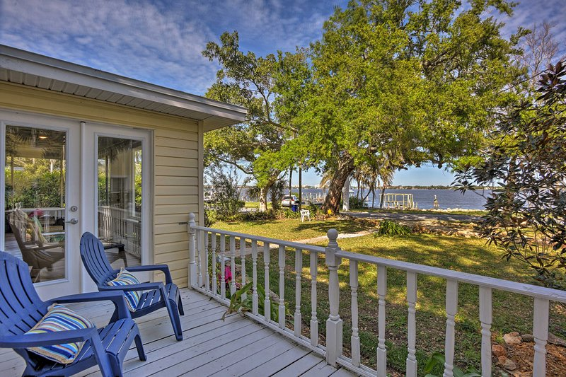 Enjoy a serene retreat along the Indian River at this Rockledge vacation rental.