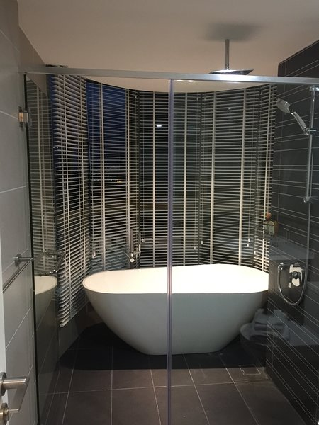 Master room bath tub and shower