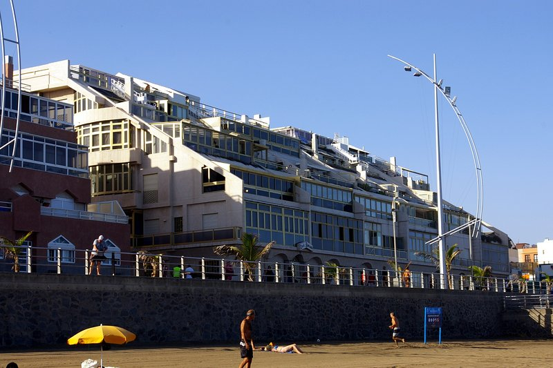 View of the building from Las Canteras beach