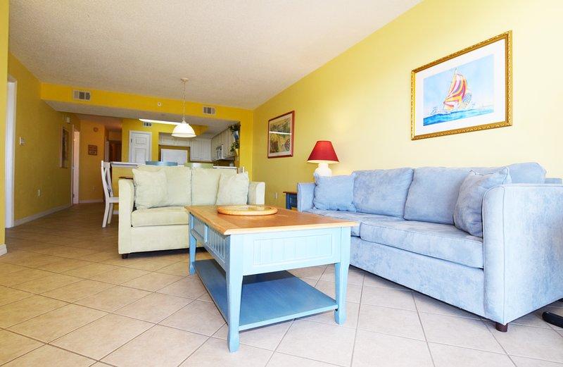 Living Room Gulf Dunes Unit 108 Okaloosa Island Florida