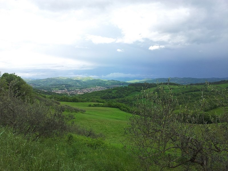 Umbertide from the hill