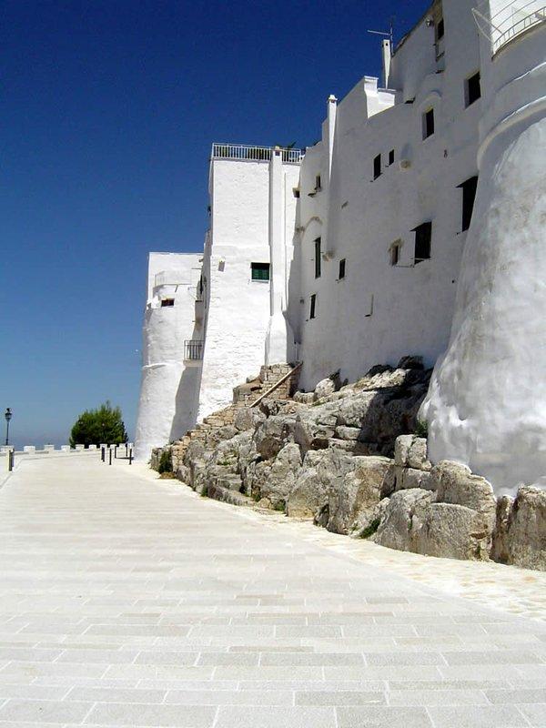 The walls of Ostuni